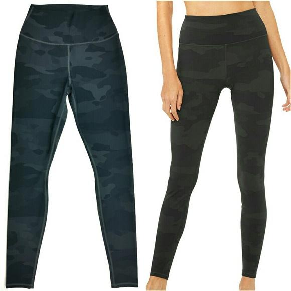 ecfe3fd62123e ALO Yoga Pants | Nwot Vapor High Waist Black Camo Leggings | Poshmark